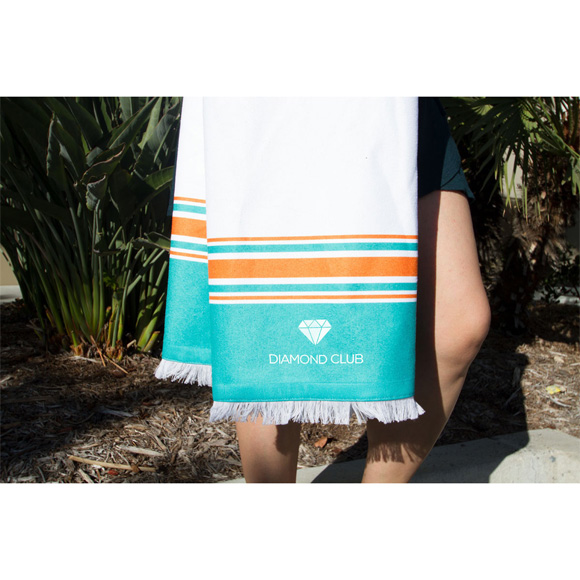 BH1002 - Peshtemal Beach Towel with Bamboo Loops