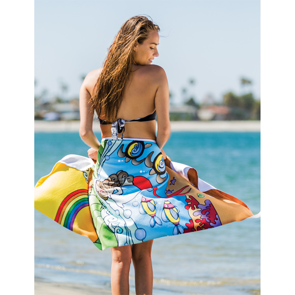 BP1518 - Traveler's Microfiber Terry Beach Towel
