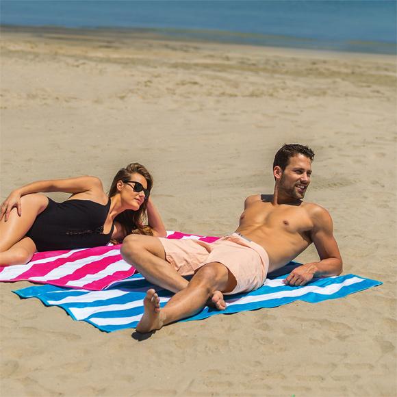 BV9006 - Cabana Stripe Terry Velour Beach Towel