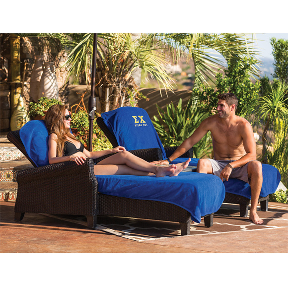 CL6002 - Terry Chaise Lounge Chair Cover