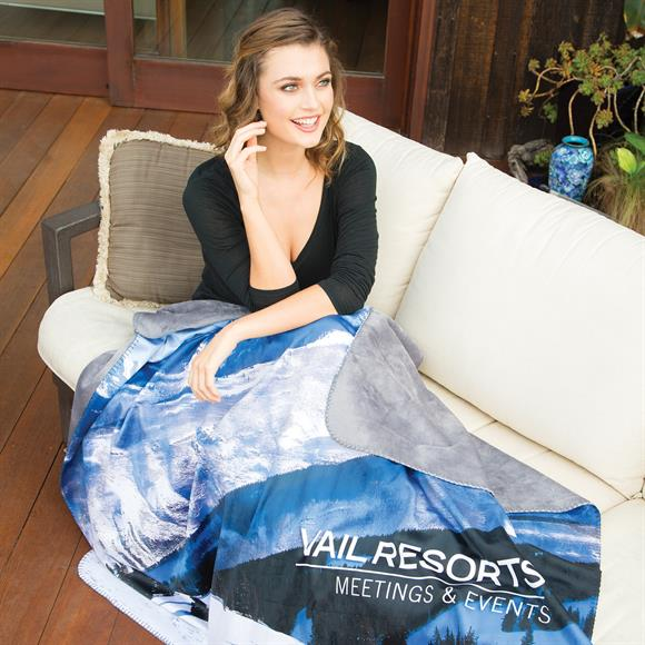 "DP1740 - ""Alpine"" Sublimated Lap Blanket"