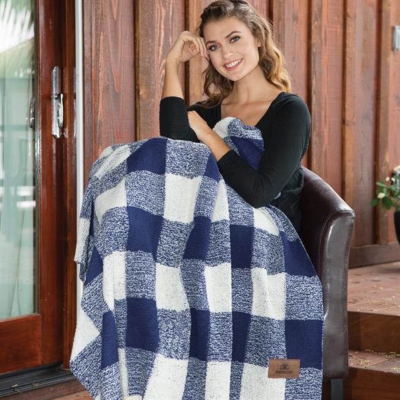 DP2801 - Plaid Berber Blanket