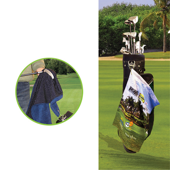 GP1204CL - Microfiber Scrubber Golf Towel