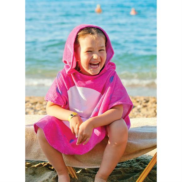 KK1619 - Kid's Hooded Beach Poncho