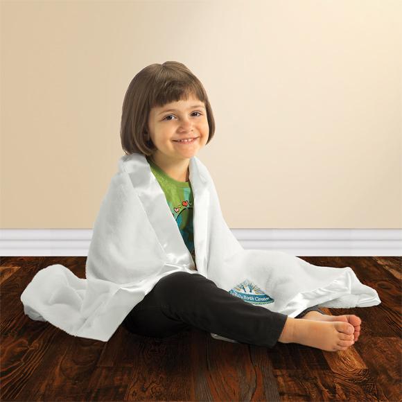 KP1706 - Satin Trim Tahoe Microfleece Baby Blanket