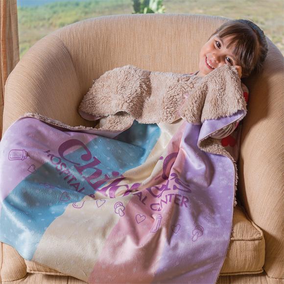KP1735 - Sherpa Lined Micro Mink Baby Blanket