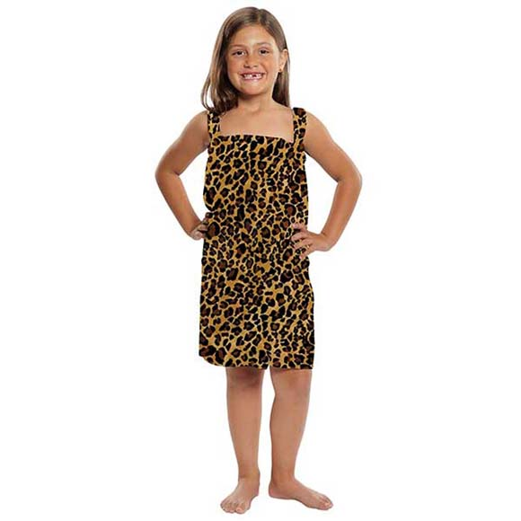 KV1813 - Kid's Terry Velour Leopard Print Body Wrap