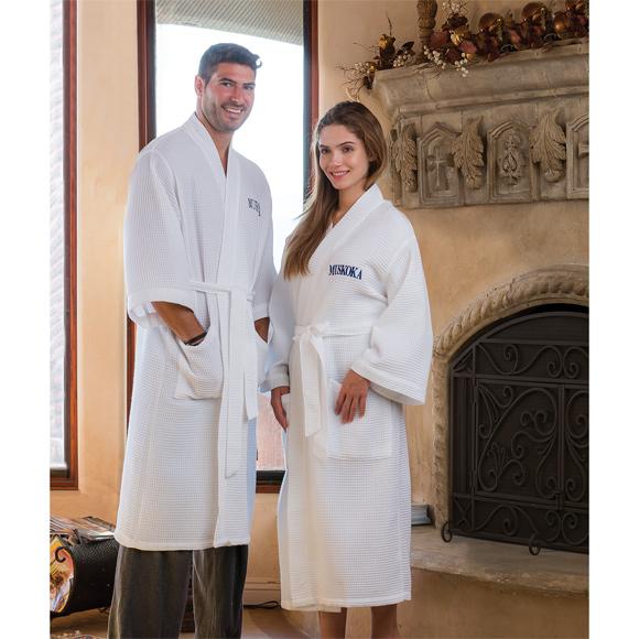 RW1007 - Mid Calf Length Waffle Weave Kimono Robe