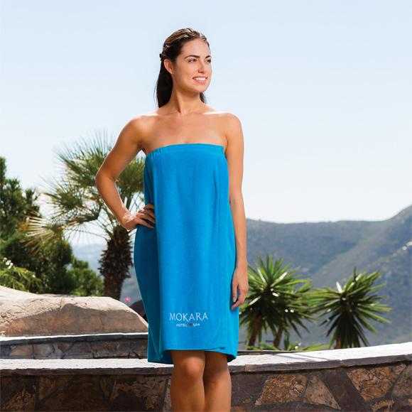 WV5008 - Women's Terry Velour Tropical Spa Wrap