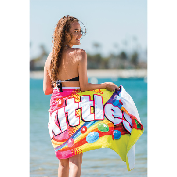 XBCV002 - Promotional Fiber Reactive Velour Beach Towel