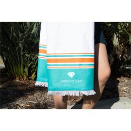 Peshtemal Beach Towel with Bamboo Loops