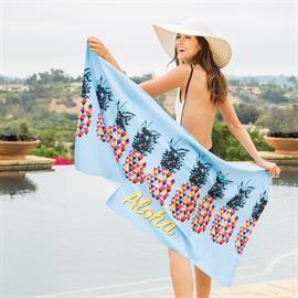 Microfiber Velour Beach Towel