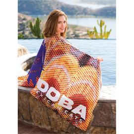 Microfiber Velour Beach Towel