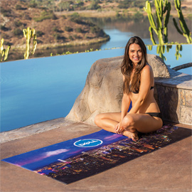 Subli-Plush Velour Beach Towel