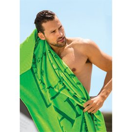 King Size Dobby Hem Velour Beach Towel