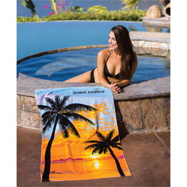 Sunset Palm Beach Towel