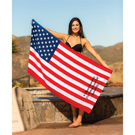 US Flag Beach Towel