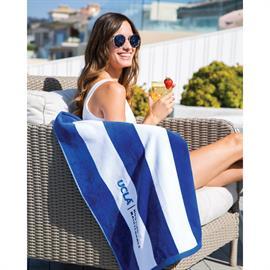 Cabana Stripe Terry Velour Beach Towel