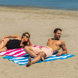 Cabana Stripe Terry Velour Beach Towel