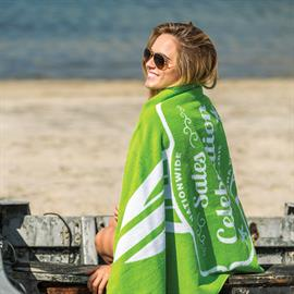 Jacquard Terry Velour Beach Towels