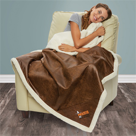 Sherpa Lined Rustic Ranch Throw