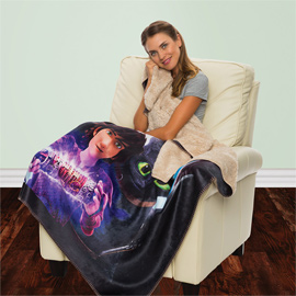 Sherpa Lined Micro Mink Throw