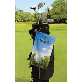 Microfiber Velour Sublimation Golf Towel