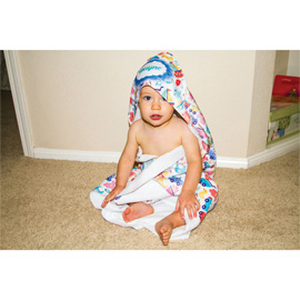 Sublimated Hooded Baby Towel