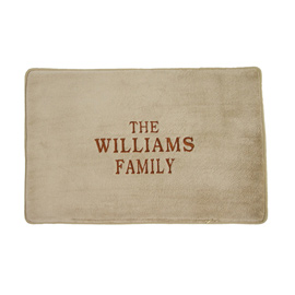 Embroidered Memory Foam Floor Mat
