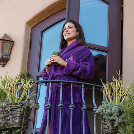 Tahoe Microfleece Shawl Collar Robe