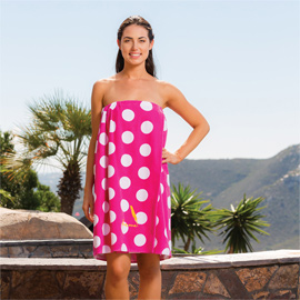Designer Spa Wraps Polka Dot
