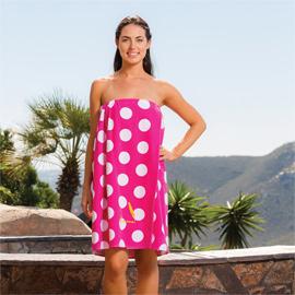 Designer Spa Wraps Polka Dot XXL Size