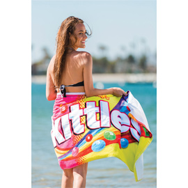 Promotional Fiber Reactive Velour Beach Towel