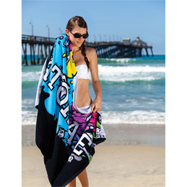 Oversize Fiber Reactive Velour Beach Towel